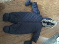 Nearly New Navy Pram-Suit 3-6 months