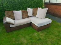 Corner fabric sofa (free delivery)