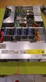 "HP DL180 G6 Dual Xeon Quad Core 2.13Ghz 48GB RAM 4x300GB 2.5"" 4x172GB SAS, 25 2.5"" Drive Bay, Rails"