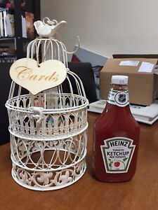 Bird cage (ketchup for size comparison)