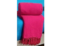 Pink New 100% Indian Cotton Sofa Bed Blanket Picnic Throw.Giant Size 250cmx280cm.