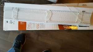 white faux wood window blinds – new in box