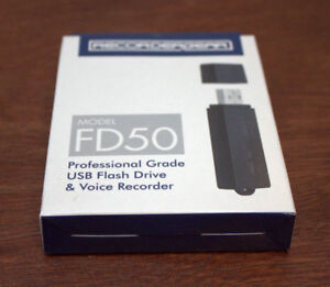 Battery powered voice recorder disguised as a USB stick