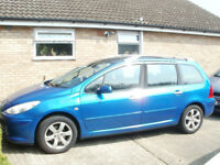 peugeot 307 sw estate 1.6 petrol 2007 77000 low in nice condition m o t £1550 ono