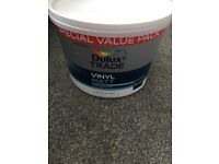 Dulux vinyl matt paint pure brilliant white unopened