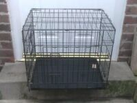 DOG CAGE SMALL WITH TRAY £15