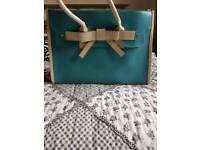 Blue and Cream Handbag