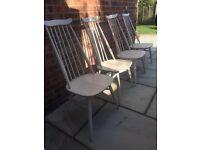 4 x Ercol Goldsmith original dining chairs