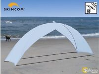 Skincom Solar Beach Tent Shelter - Family Size UV Protection Sun Tent (Ice Blue)