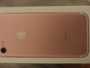 Rose gold iPhone 7 128g with box and accesories