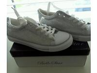 Converse style trainers size 3 - 8 available in silver