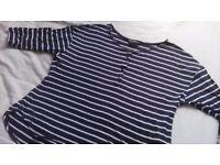 Dorothy Perkins - Size 16- Stripy Top