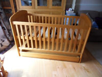 Baby Weavers Pine Cot Bed with storage drawer