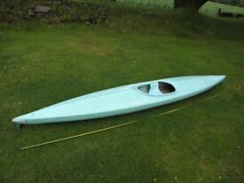 £30, blue one man canoe, fun for the summer 50p a day