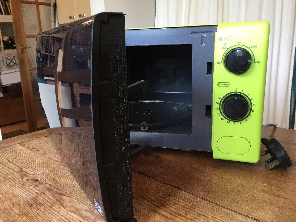 Lime Green Matching Microwave Kettle And Toaster