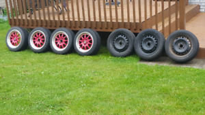 Selling 1 completr sets of summer rims and 3/4 winter steelies