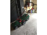 Electric lawn mower comes with extension cable