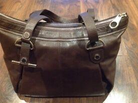 **Womens Ted Baker brown leather handbag new**