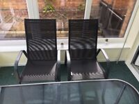 Comfortable black garden chairs x4