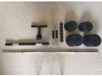 22.5kg Water Weights, Dumbbells, Bar, Sit Up Bar and Spring Bar