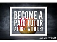PAID WORK FOR STUDENTS AGED 16+ AS A TUTOR