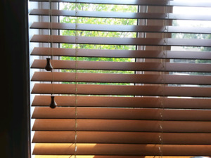 "Large window blind - 2"" faux wood blind 72 x 72 in"