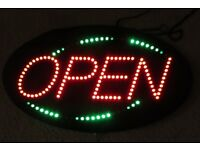 "Flashing ""OPEN"" neon sign £50 ono"