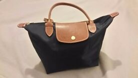 Longchamp small navy shopper bag. Excellent condition and well looked after.