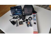 Panasonic Lumix FZ100 14.1MP Digital Camera - Black plus EXTRAS