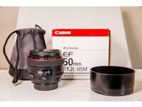 canon 50mm 1.2 lens