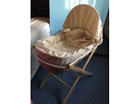 Unisex Baby Moses basket with stand