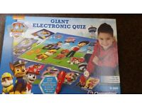 Paw patrol electronic quiz game (played once)