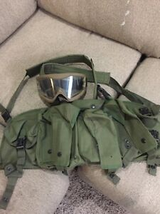 Tactical Chest Piece and Goggles