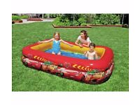 Disney Cars Paddling Pool - 8.5ft - 770 Litres Size L262, W175, D56cm.