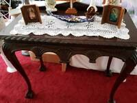 Hall table- Hand made in solid mahogany