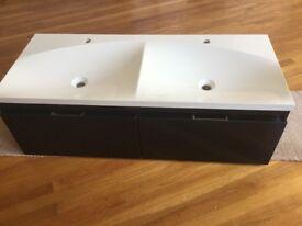 Contemporary Bathroom Vanity Unit- 2 drawers