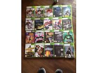Xbox 360 console, 20 games, controller and headset.