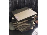 13 no. 600x600 council concrete paving slabs