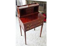 Reproduction Bureau with fold out top and drawers