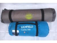 LICHFIELD TREKLITE 200 TENT & SELF-INFLATING MATTRESS MAT