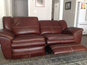 Two Leather Recliner Couches