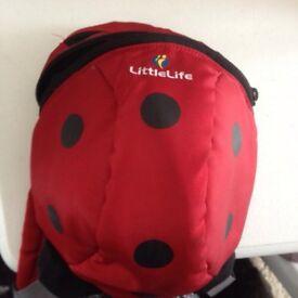 Littlelife ladybird back pack rein