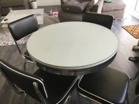 Retro dining table and chairs as new still for sale in Argos