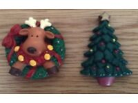Christmas in July 2 Christmas Fridge Magnets