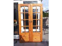 Solid Glass Pine Doors
