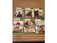 Six Xbox 360 games