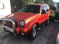 Jeep Cherokee 3.7 v6 75000 miles 02 plate