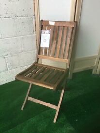 New Blooma Victoria Wooden Garden Chair Ideal to shabby chic or paint for a garden feature piece