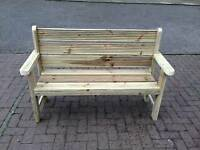 Garden furniture 2 seater bench