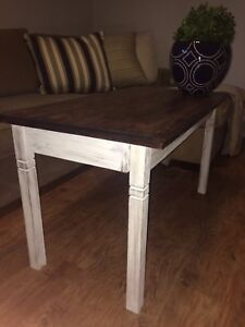 Refinished farmhouse style table